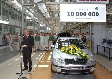 10000000 Миллионный автомобиль Skoda