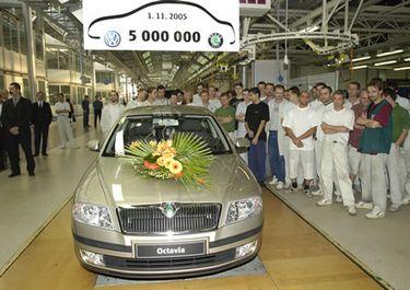 5000000 Миллионный автомобиль Skoda