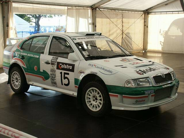 World rally championship skoda octavia tour